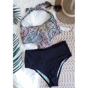 The Bikini Lab Swim - THE BIKINI LAB Braid one piece cutout swimsuit